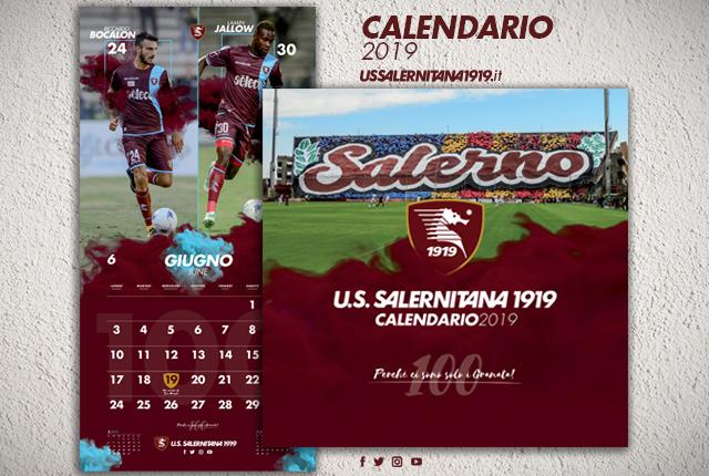 Calendario Salernitana.Da Domani In Vendita Il Calendario 2019 Della Salernitana